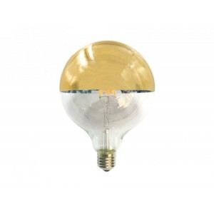 BEC LED GOLD DIMABIL 6W E27 230V G125 690LM, ACA LIGHTING