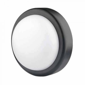 Plafoniera Led 14W, waterproof, 4200Km IP44, neagra - Ultralux LBH1442BL