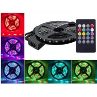 Banda Led 12V RGB 14.4W/M Ip20 60Led/M 5050 Muzica