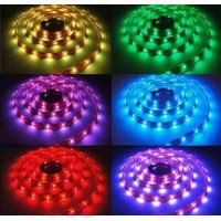 Banda Led flexibila RGB, 14.4W/m, 12V DC, non-waterproof