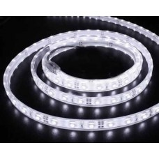 Banda Led flexibila SMD5050, alba, waterproof, 7.2W/m, 12V DC