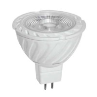 Spot Led 6W cu optica, MR16, 2700K, 220V, lumina alba calda, COB