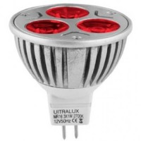Spot LED 3x1W, lumina rosie reglabila - Ultralux L12MR163RD
