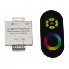 Controlere, dimmere, amplificatoare - Controler RGB 216W cu telecomanda cu touch (alba) - Lightex 908BA0010550