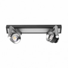 Lampa Led, montaj aparent, 2x5W, 4200K, grafitat, IP20