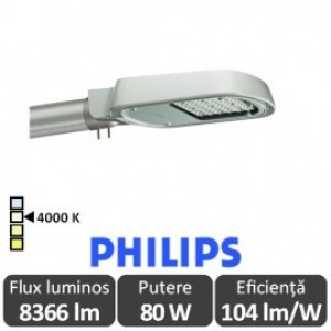 Philips - Corp iluminal stradal cu LED ClearWay BGP303 80W 4000K alb-neutru - Philips 910925438930