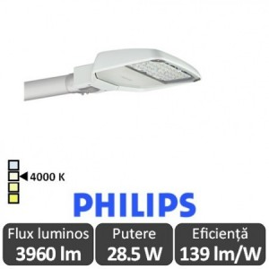 Philips - Corp iluminal stradal cu LED ClearWay BGP307 28.5W 4000K alb-neutru - Philips 871869698702500