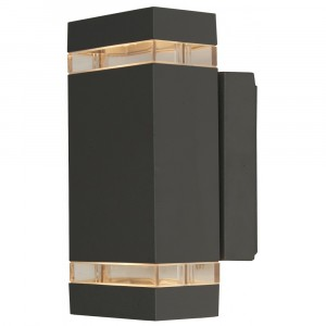 Lampa decorativa exterior 2xGU10 IP65 grafitat, Lightex, 503AP0000440 - Lightex 503AP0000440
