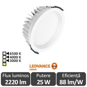 OSRAM Ledvance 25W Downlight Led Alb Cald