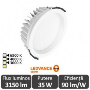 OSRAM Ledvance 35W Downlight Led Alb Cald