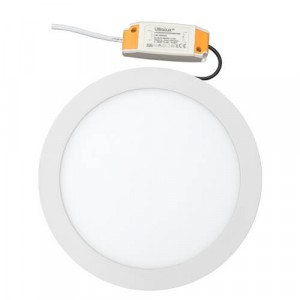 Panou LED incastrabil, rotund, 15W, SMD3014, lumina neutra