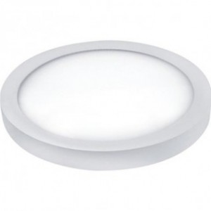 PANOU LED 48W, ROTUND, APLICAT, 4200K, 220-240V, ALB NATURAL