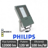 Philips-Proiector LED BVP130 120W asimetric,alb-neutru