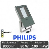 Philips-Proiector LED BVP130 80W asimetric,alb-neutru - Philips 871869909724000