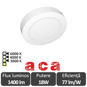 Panou Led Rotund Arca 12W - ACA Lighting 130046